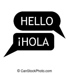 Speaking spanish icon, simple style - Speaking spanish icon...