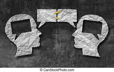 Speaking Together - Speaking together social media concept...