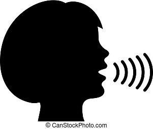 Speaking woman icon