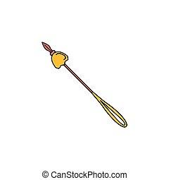 Spear icon, cartoon style