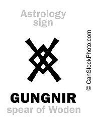 spear), (woden's, gungnir, astrology: