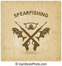 spearfishing club concept design. underwater hunting