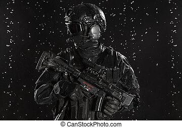 Spec ops police officer