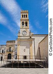 specchia., puglia., italien, clocktower.