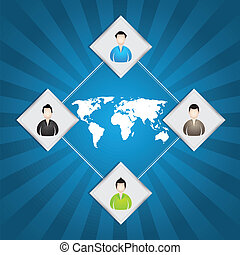 special ad; background with businessman icons