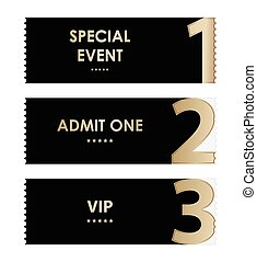 special admit one ticket, vip permission