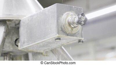 special apparatus for sprinkling dough with flour.
