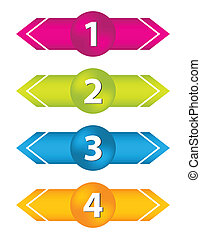 special arrow stickers set with numbered buttons