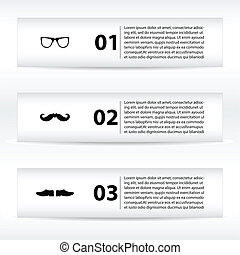 special banners with hipster design