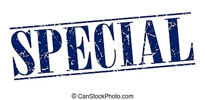 special blue grunge vintage stamp isolated on white background