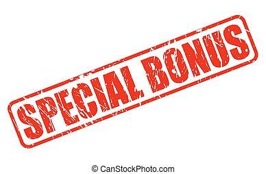Special bonus red stamp text
