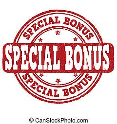 Special bonus stamp - Special bonus grunge rubber stamp on...
