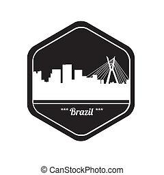 brazil stamp - special brazil stamp on white bakcground