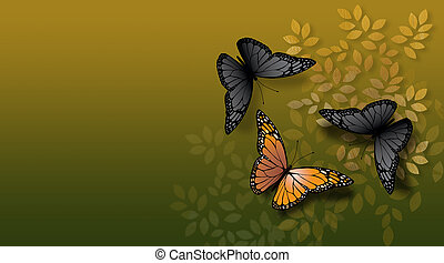 Special butterfly confronted by common butterflies