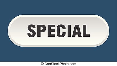 special button. special rounded white sign. special