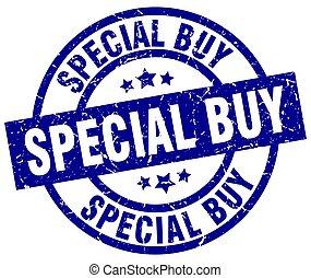 special buy blue round grunge stamp