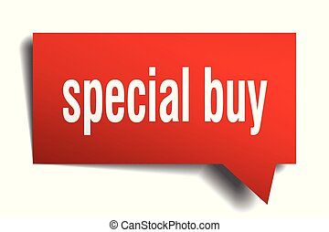 special buy red 3d speech bubble