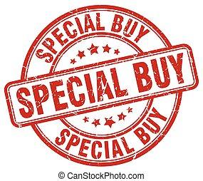 special buy red grunge round vintage rubber stamp