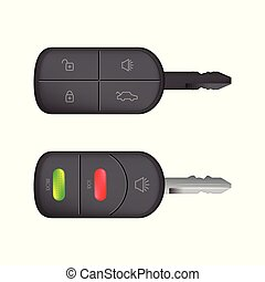 special car key design with lock and unlock buttons