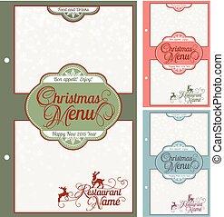 Special Christmas festive menu design.