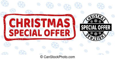 Special Christmas Offer Grunge and Clean Stamp Seals for Christmas