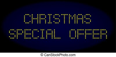SPECIAL CHRISTMAS OFFER Led Style Caption with Glowing Dots