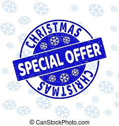 Special Christmas Offer Scratched Round Stamp Seal for Christmas
