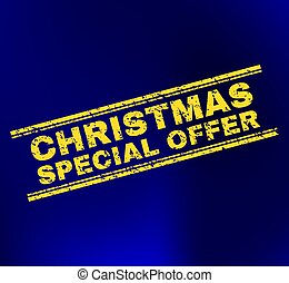 SPECIAL CHRISTMAS OFFER Scratched Stamp Seal on Gradient Background