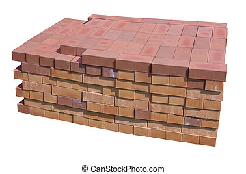 Special clay bricks for fireplaces