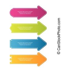 Special colored arrow stickers for websites. Vector illustration, eps10