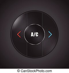special conditioner and air flow control button design for modern cars