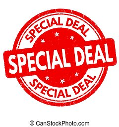 Special deal sign or stamp