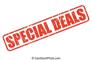 SPECIAL DEALS red stamp text