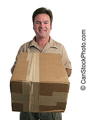 Special Delivery - a friendly delivery man bringing a ...