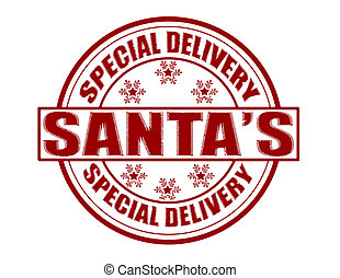 Special delivery - Stamp with text special delivery inside,...