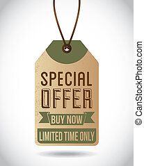 special design - special offer design over gray background...