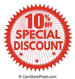Special discount 10% off stamp
