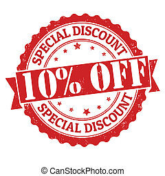 Special discount 10% off stamp - Special discount 10% off...