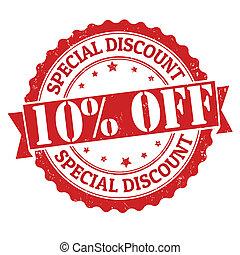 Special discount 10% off stamp - Special discount 10% off ...