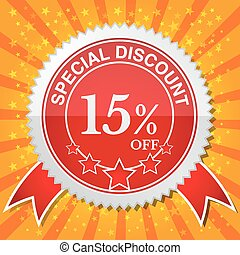 Special Discount 15% Off. - Vector illustrator EPS 10