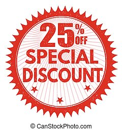 Special discount 25% off stamp