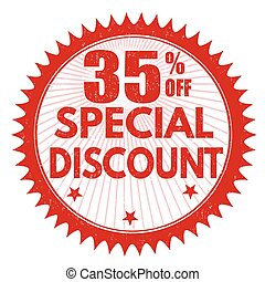 Special discount 35% off stamp