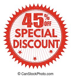 Special discount 45% off stamp