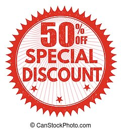 Special discount 50% off stamp
