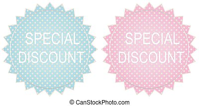 Special discount label