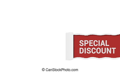 Special discount red sign animation shot clip