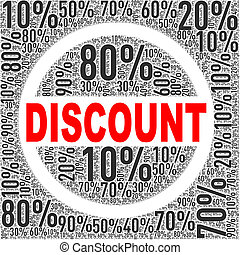 Special discount sale wordcloud tag