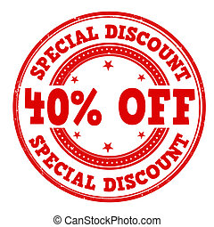 Special discount stamp