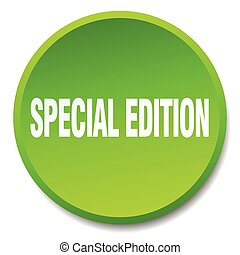 special edition green round flat isolated push button
