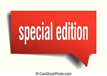 special edition red 3d speech bubble